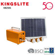 Portable 10W mini solar system 10W solar lighting system solar kit system with mobile charger MP3 FM KB2501A