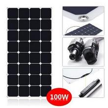 High efficiency Sunpower cell Semi Flexible solar panel 100W black and white color