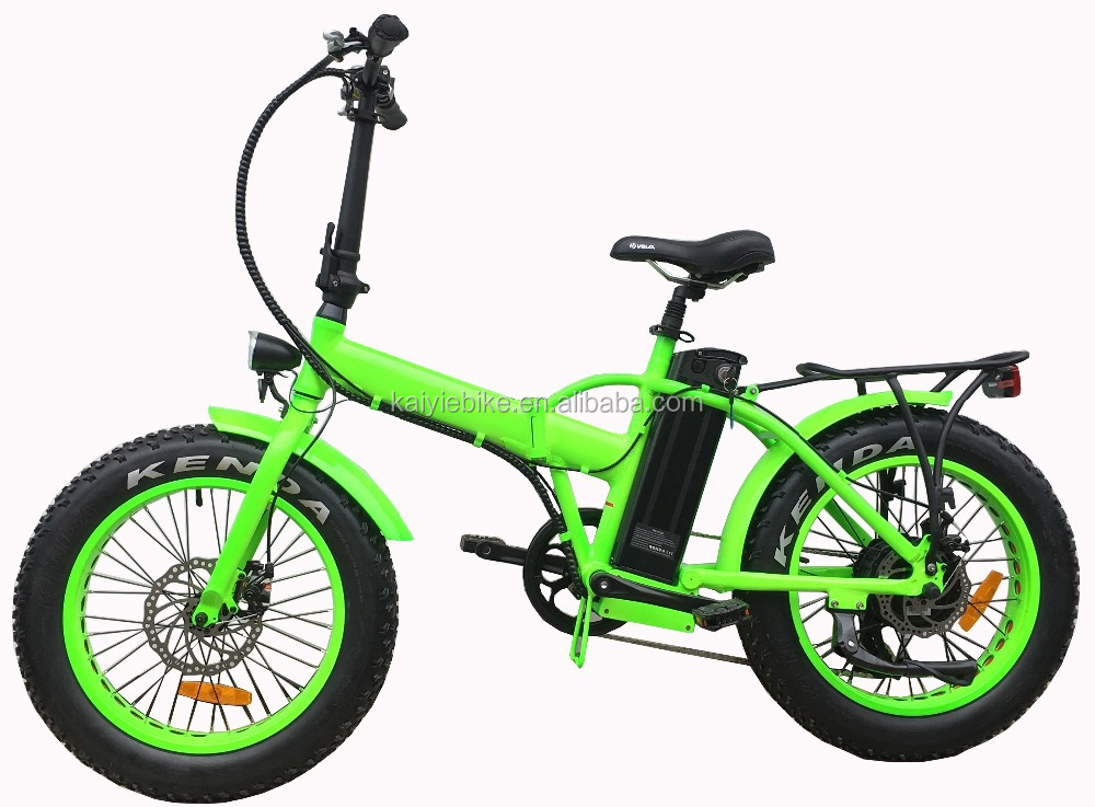 20' hot sales cruiser folded fat tire 48V500W suspention front fork electric bike /foldable electric bike kaiyi