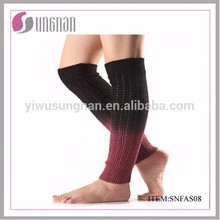 Factory winter thick knit wholesale cotton knee high tube women socks