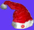 2017 new red plush dancing christmas hat santa hat