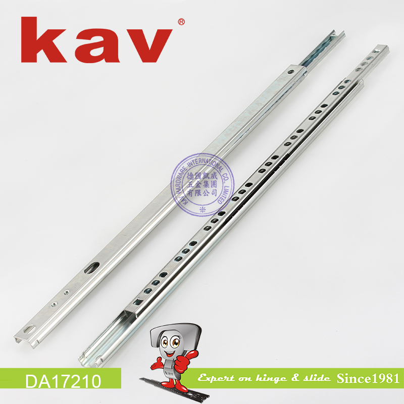 17mm two way travel slide rail mini ball bearing drawer slides