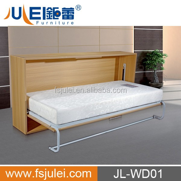 modern MDF steel manual operate murphy bed JL-WD01