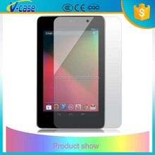 Top sale higher toughness tempered glass screen protector for google nexus 7