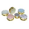 Simulated Sandblasted Gold Plated Screw Ear Flesh Tunnel Plugs, Body Piercing Jewelry