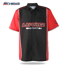 100% polyester fabric motorcycle jersey pit crew shirts