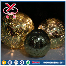 Decorative LED large Christmas painted glass ball light home ornaments