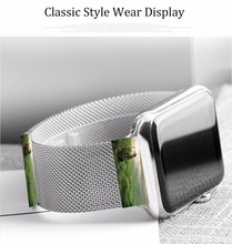 Stainless Steel Mesh Milanese Loop Adjustable Magnetic Closure Integrated Watch Replacement Metal Band For Apple I Watch 42mm