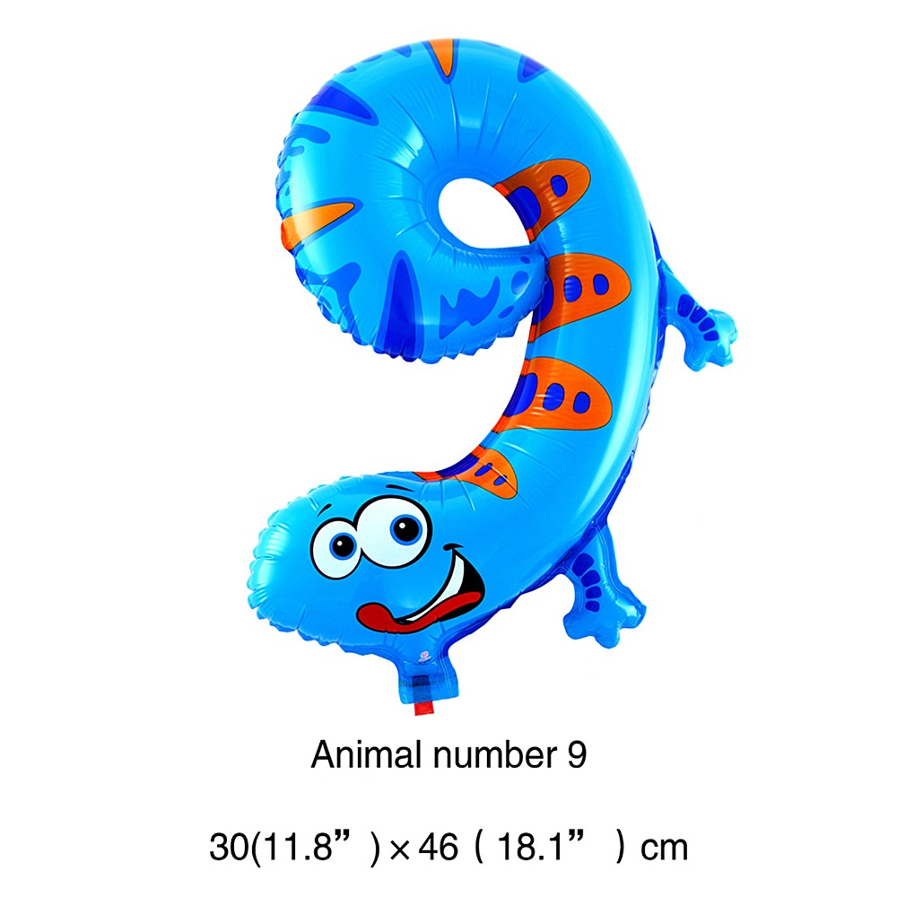 "New 18""Animal number 0-9 Foil Balloon Birthday Party/Baby Shower Decoration"