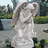 Western style garden decoration resin outdoor praying kneeling angel statue