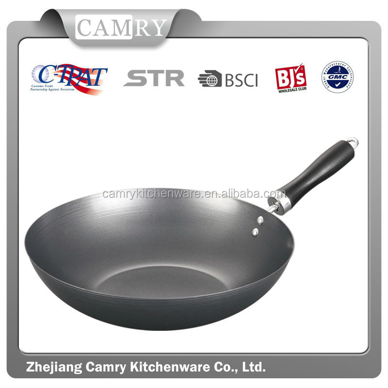 2014 high quality non stick nice bar wok factory direct sale