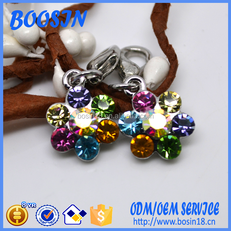 Wholesale Crystal Flower Shape Charm for Jewelry