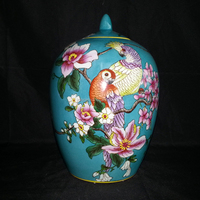Chinese Porcelain Hand Paint Large Home Kitch Food Storage Bottles Ceramic Stash Jars with Lids