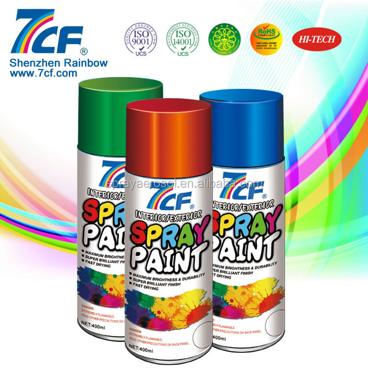 High Quality Multi- color Shenzhen Rainbow Fine Chemical Brand 7cf 2k Car Spray Paint