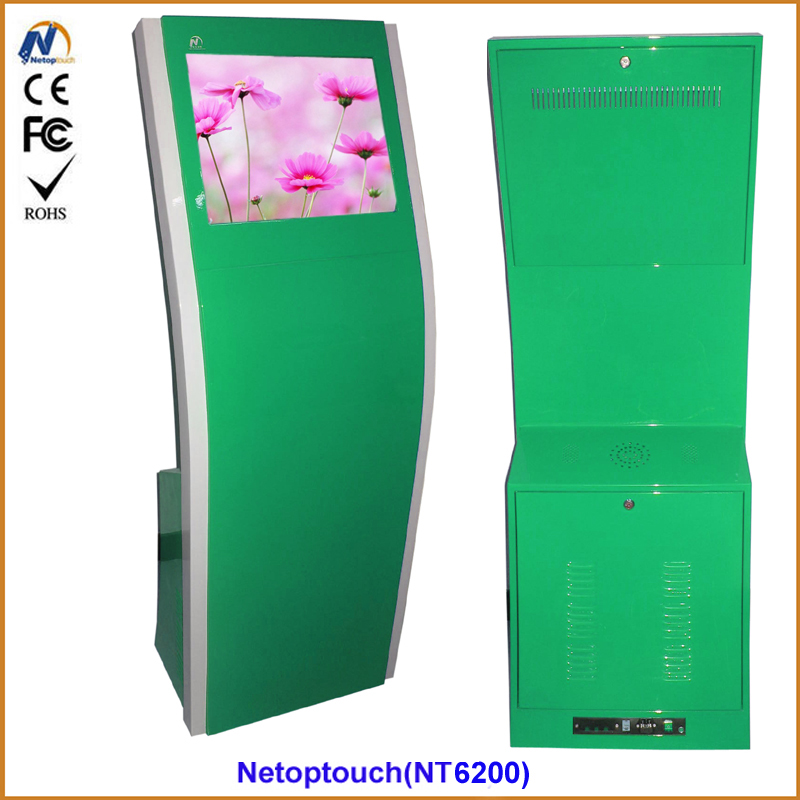 High quality touch screen interactive information kiosk terminal