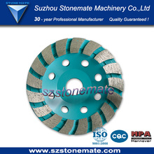 SMT STONEMATE turbo type Diamond grinding cup wheel for granite marble concrete diameter 105-180mm