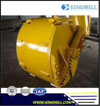 Drilling tools Double bottom double head Rock Bucket with rock drilling teeth for bored pile drill rig BG25 from Kimdrill