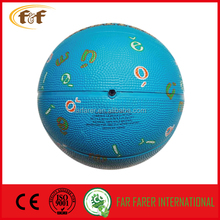 alibaba china basketball size 5 rubber/custom printed aging resistance rubber basketball