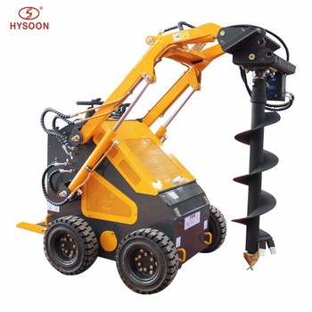 Skid steer mini loader drill attachments