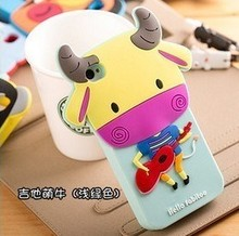 shock proof thick advertising silicone decorate cell phone case