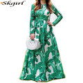modern islamic clothing oem party evening formal muslim print full dress