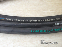 1 inch flexible hose kingdaflex brand names hydraulic hose 4SP 4SH R12