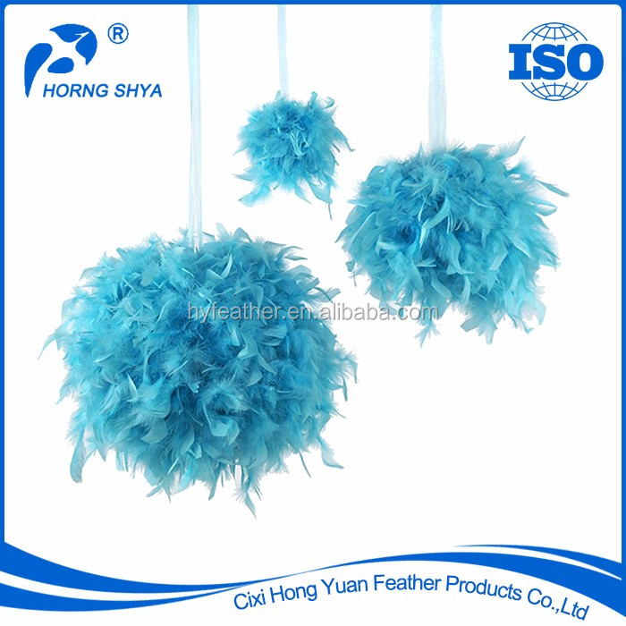Manufacturer Wholesale Fashionable FA-19 6inch 12inch 18inch Christmas New Year Chandelle Feather Ball
