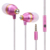 Wire Portable In Ear Headphone Stereo Earbuds Earphone for iPhone with Microphone