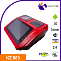 KZ680 android 4.0 3g bt gsm pos terminal with fingerprint