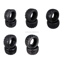 2PCS Natural Rubber Tire Tyre For Rc Hobby Car 1/10 Monster Truck Big Foot Truggy