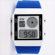 Skmei promotion gifts EL backlight dual time led digital watch for youth