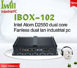 Iwill Intel core i3 i5 i7 mini vehicle pc 8gb ram 128gb ssd 500g HDD dual lan car computer with power cord and pcie slot