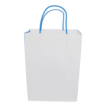 Customized Fashion Custom Occasion White Large Kraft Paper Shopping Gift Bag With Handle