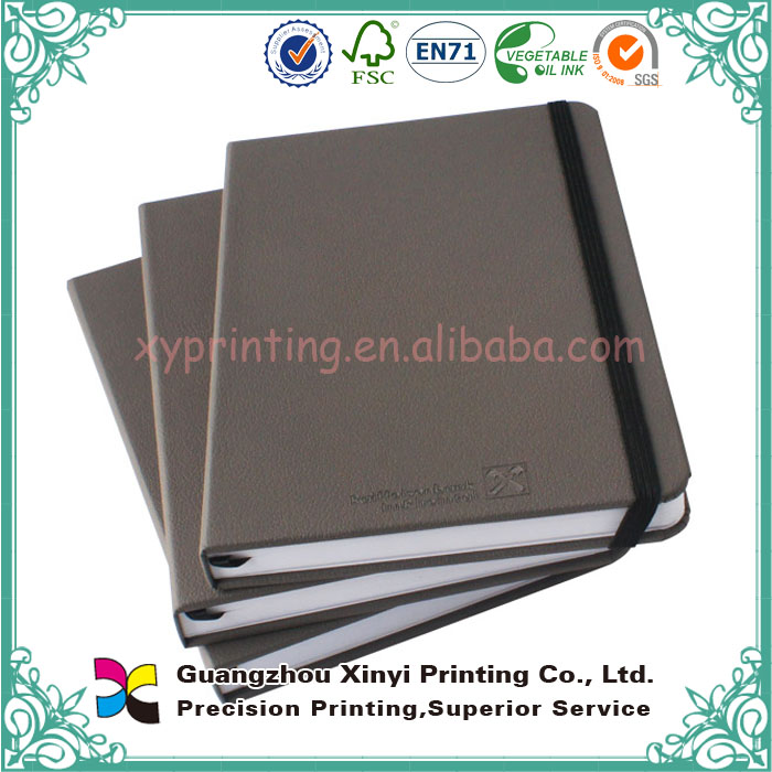 China supplier promotional fashion design OEM leather bound book cover