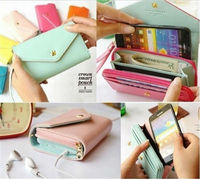 Hot Selling High Quality women wallet leather case for iphone 5c