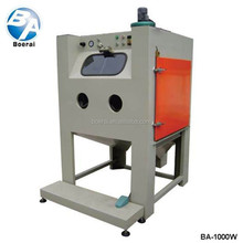 Wet type sandblasting machine for workpiece pretreatment before painting, coating and electric plating