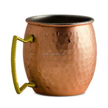copper plating golden stainless steel mug 16oz solid stainless steel Copper Barrel Mug for vodka and moscow mule