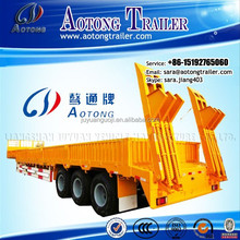3 axles Multi Purpose machinery /container /bulk cargo transportation flatbed low bed semi trailer for sale(Lowboy trailer)