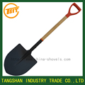 wooden handle digging shovel