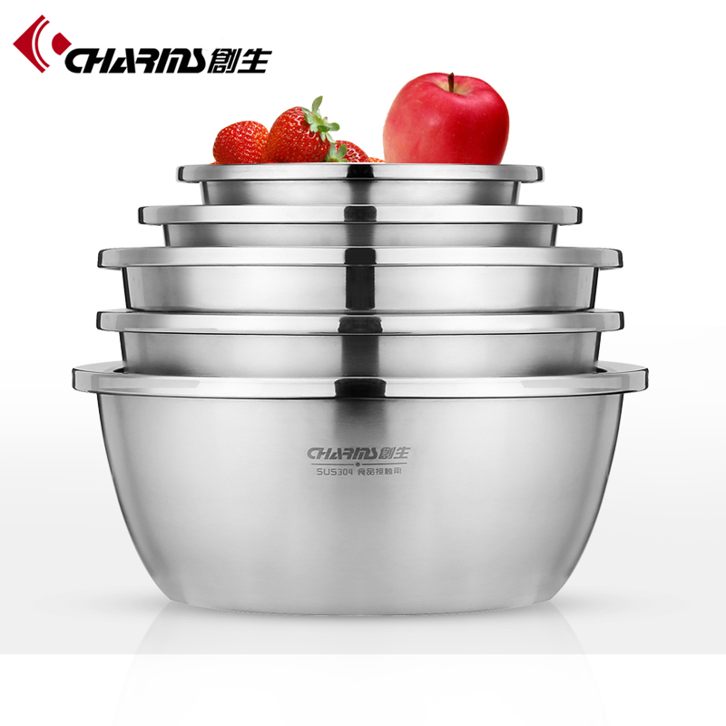 Kitchen Cooking Tools , Ingredients Standby Bowls , Stainless Steel Mixing Bowl