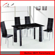 China Supplier Home Furniture For Modern Cheap Glass HD Dining Table