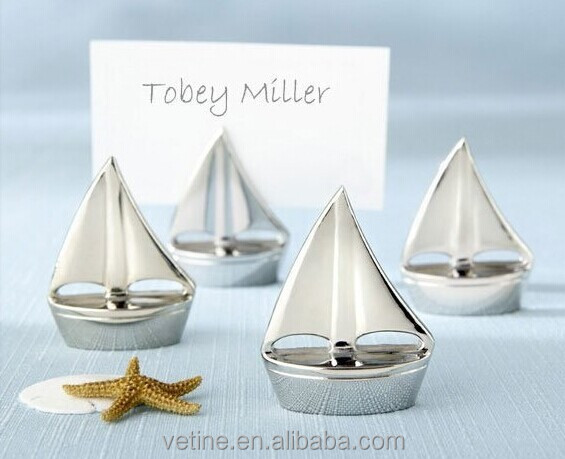 Wedding Favor Place Card Holder Decoration creative wedding gifts sailing ship seat clamp table card clip card holder