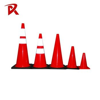 Road safety flexible traffic cone 700mm orange used cones