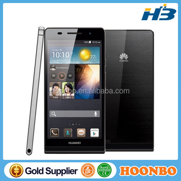 Huawei Ascend P6 ROM 8GB/16GB RAM 2GB Quad core 1.5GHz K3V2E Android 4.2 Smart Phone 8.0MP+5.0MP 2000mAh Battery Single SIM