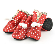 Wholesale Dog Nylon Shoes Spotted Adjustable Non-slip Indoor Outdoor Pet Shoes