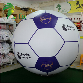 Advertising Custom Printed Air Football Balloon Giant Inflatable Football For Display
