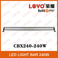 Tuning light car led light bar 12v, hi-way auto led lighting, 240w led power bar