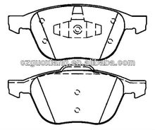 Front Brake Pad D1563 for Ford Focus/Escape 2012