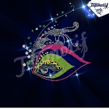 wholesale korean rhinestone transfer beautiful eyes iron on Rhinestone motif design