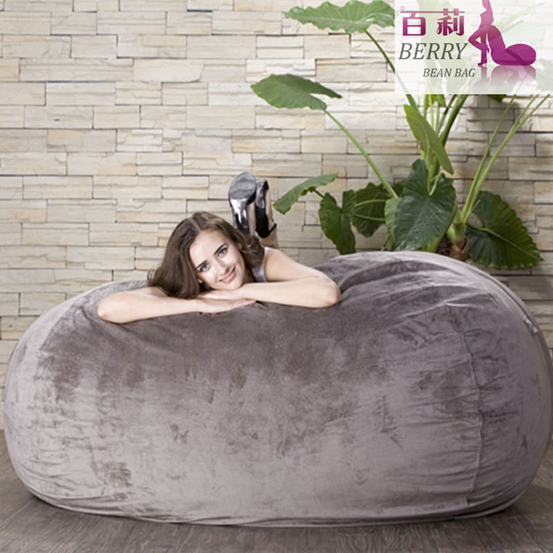 Foam Bronzing Suede Bean Bag of Several Sizes